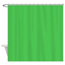 Solid Kelly Green Shower Curtain