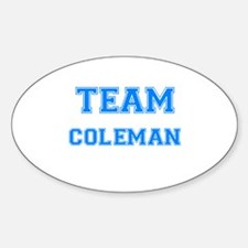 TEAM COLEMAN Oval Decal