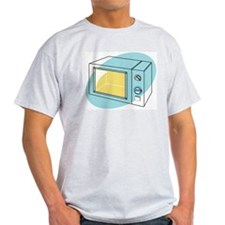 Pop Art - 'Microwave' Ash Grey T-Shirt