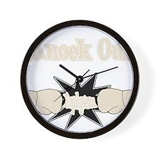Knock Out Emphysema pearl.png Wall Clock