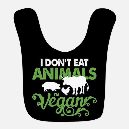 Vegan Animals Polyester Baby Bib