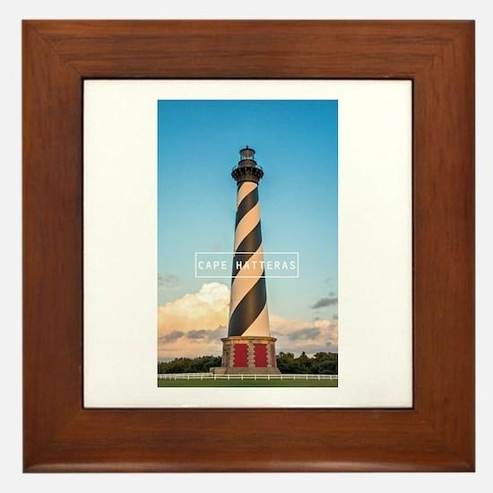 Cape Hatteras Light. Framed Tile