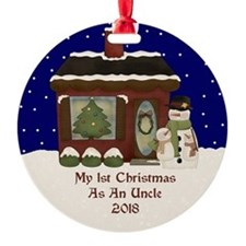 1St Christmas As An Uncle 2018 Ornament