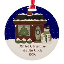 1St Christmas As An Uncle 2016 Ornament