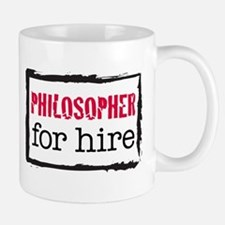 Philosopher for Hire (Red) Mug