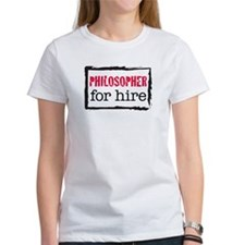 Philosopher for Hire (Red) Tee