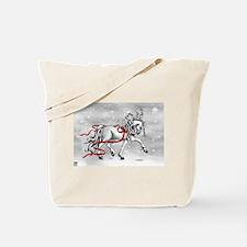 Christmas Snow Bells Tote Bag