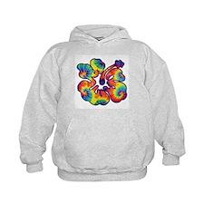 hibiscus tie dye 1 Hoodie