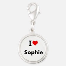I Love Heart Custom Name (sophie) Text Char Charms