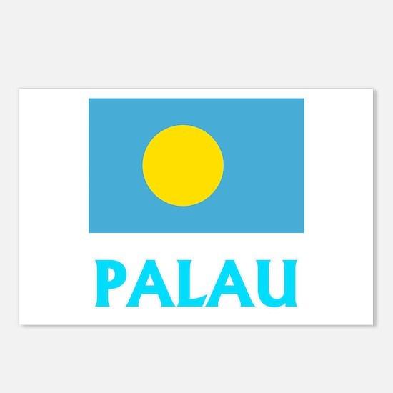 Palau Flag Classic Blue D Postcards (Package of 8)