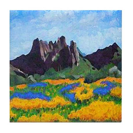 Arizona Mountains Tile Coaster