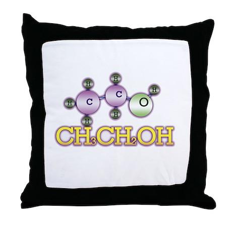 Alcohol molecules Throw Pillow