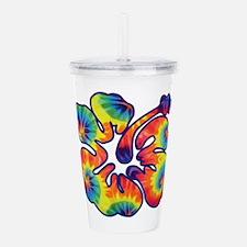 hibiscus tie dye 1 Acrylic Double-wall Tumbler