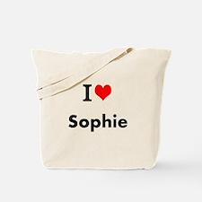 I Love Heart Custom Name (Sophie) Custom Text Tote