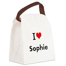 I Love Heart Custom Name (Sophie) Custom Text Canv
