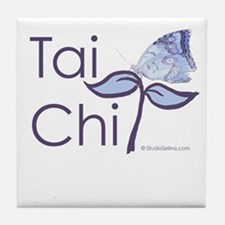 Tai Chi Butterfly 2 Tile Coaster