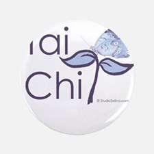 """Tai Chi Butterfly 2 3.5"""" Button"""