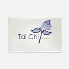 Tai Chi Butterfly Rectangle Magnet