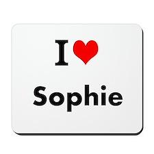 I Love Heart Custom Name (Sophie) Custom Text Mous