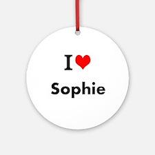 I Love Heart Custom Name (sophie) Ornament (round)