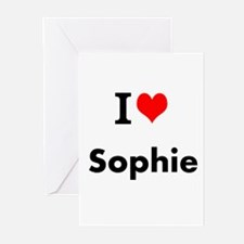 I Love Heart Custom Name (Sophie) Custom Text Gree