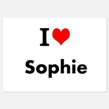 I Love Heart Custom Name (Sophie) Custom Text Invi