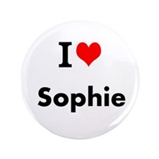 "I Love Heart Custom Name (sophie) Text 3.5"" B"
