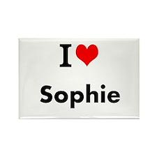 I Love Heart Custom Name (Sophie) Custom Text Magn