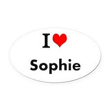 I Love Heart Custom Name (Sophie) Custom Text Oval