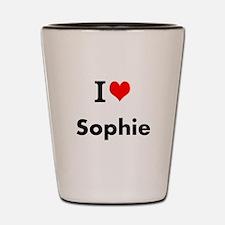 I Love Heart Custom Name (Sophie) Custom Text Shot