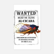 Wanted: Cicada Rectangle Decal