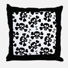 Halloween Skull Pattern Throw Pillow