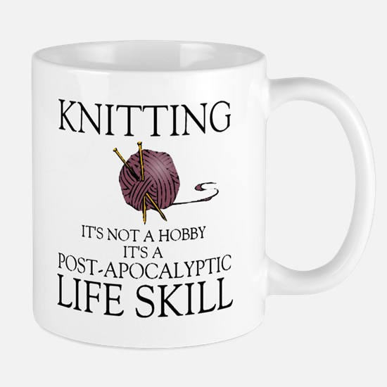 Knitting not a hobby it's a life Large Mugs