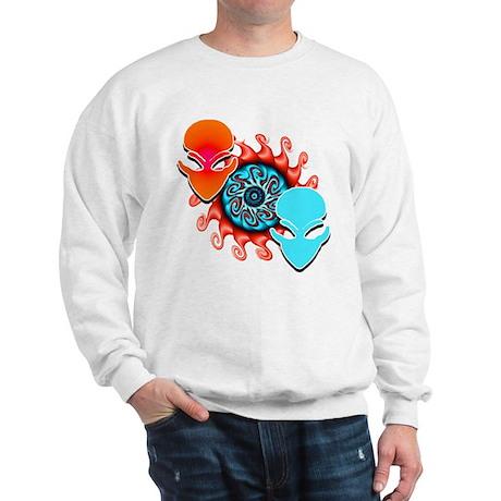 Double Trouble Red N Aqua Sweatshirt