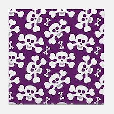 Halloween Skull Pattern Tile Coaster