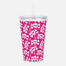 Halloween Skull Patter Acrylic Double-wall Tumbler