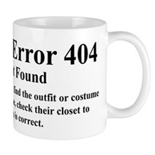 HTTP Error 404 Costume Not Found This Mug