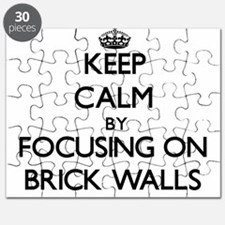 Keep Calm by focusing on Brick Walls Puzzle