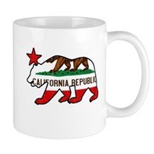 California Bear Flag (vintage distressed look) Mug