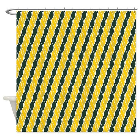 Yellow And Green Shower Curtain By Totallyfabulous