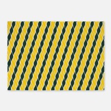 Yellow and Green 5'x7'Area Rug