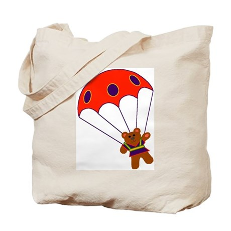 Teddy with Parachute Tote Bag
