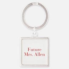 Future Mrs Allen-bod red Keychains