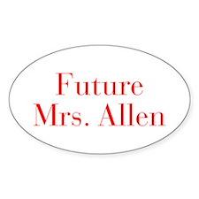 Future Mrs Allen-bod red Decal