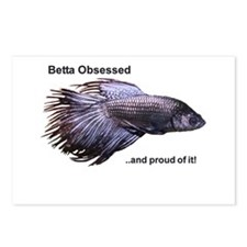 Betta Obsessed Postcards (Package of 8)