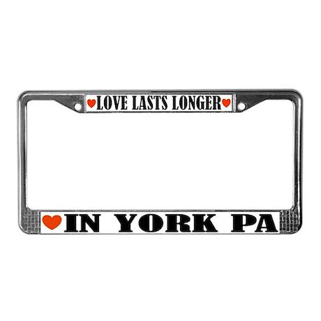York Pennsylvania License Plate Frame