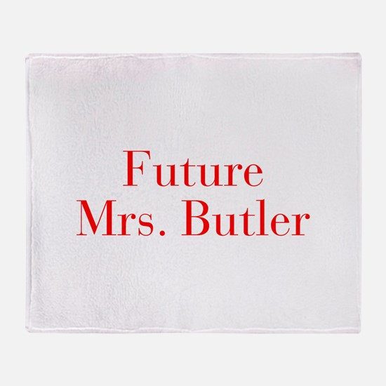 Future Mrs Butler-bod red Throw Blanket