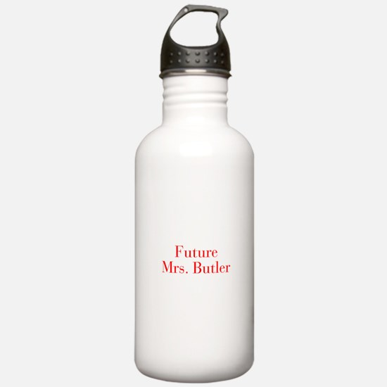 Future Mrs Butler-bod red Water Bottle