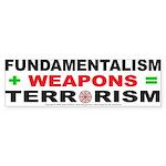 Fundamental Terror Bumper Sticker