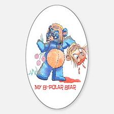 My Bi-Polar Bear Oval Decal